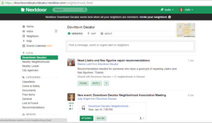 Nextdoor screen capture